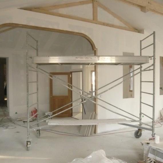 Pose placo rampant toiture trendy plafond suspendu rampant placo de lutage pose with pose placo - Pose placo rampant toiture ...